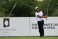 Edoardo Molinari (ITA) on the 11th tee during Round 2 of the Irish Open at Fota Island on Friday 20th June 2014.<br /> Picture:  Thos Caffrey / www.golffile.ie