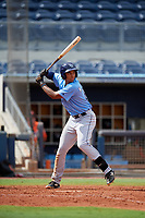 Tampa Bay Rays Kaleo Johnson (83) at bat during a Florida Instructional League game against the Baltimore Orioles on October 1, 2018 at the Charlotte Sports Park in Port Charlotte, Florida.  (Mike Janes/Four Seam Images)