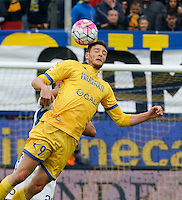 Daniel Ciofani during the  italian serie a soccer match,between Frosinone and Inter      at  the Matusa   stadium in Frosinone  Italy , April 09, 2016