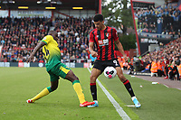 Dominic Solanke of Bournemouth comes under pressure from Ibrahim Amadou of Norwich City during the Premier League match between Bournemouth and Norwich City at Goldsands Stadium on October 19th 2019 in Bournemouth, England. (Photo by Mick Kearns/phcimages.com)<br /> Foto PHC/Insidefoto <br /> ITALY ONLY