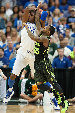 UK forward Terrence Jones is defended by Baylor Bears guard Pierre Jackson. Kentucky faced Baylor during the 2012 NCAA Tournament Regional Finals at the Georgia Dome in Atlanta, March 25, 2012. Photo by