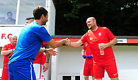 Lincoln City manager Danny Cowley, left, and Lincoln United manager Sam Wilkinson<br /> <br /> Photographer Chris Vaughan/CameraSport<br /> <br /> Football - Pre-Season Friendly - Lincoln United v Lincoln City - Saturday 8th July 2017 - Sun Hat Villas Stadium - Lincoln<br /> <br /> World Copyright &copy; 2017 CameraSport. All rights reserved. 43 Linden Ave. Countesthorpe. Leicester. England. LE8 5PG - Tel: +44 (0) 116 277 4147 - admin@camerasport.com - www.camerasport.com
