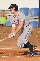 Danville Braves Jace Whitmer at Howard Johnson Field in Johnson City, Tennessee July 6, 2010.   Johnson City won the game 6-5.  Photo By Tony Farlow/Four Seam Images