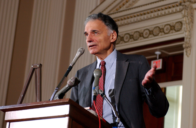 nader7_080702 -- Ralph Nader, consumer advocate, addresses congressional intrens on Congress and the corporate crime wave.