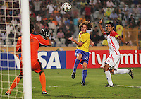Brazil's Renan makes a goal attempt against Costa Rica during the FIFA Under 20 World Cup Semi-final match at the Cairo International Stadium in Cairo, Egypt, on October 13, 2009. Brazil won the match  1-0.