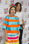 Nieves Alvarez  and Agatha Ruiz de la Prada during the Madrid Kids fashion week 2016. 22,06,2016. (ALTERPHOTOS/Rodrigo Jimenez)
