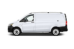 Car Driver side profile view of a 2016 Mercedes Benz Metris Cargo-Van 4 Door Cargo Van Side View