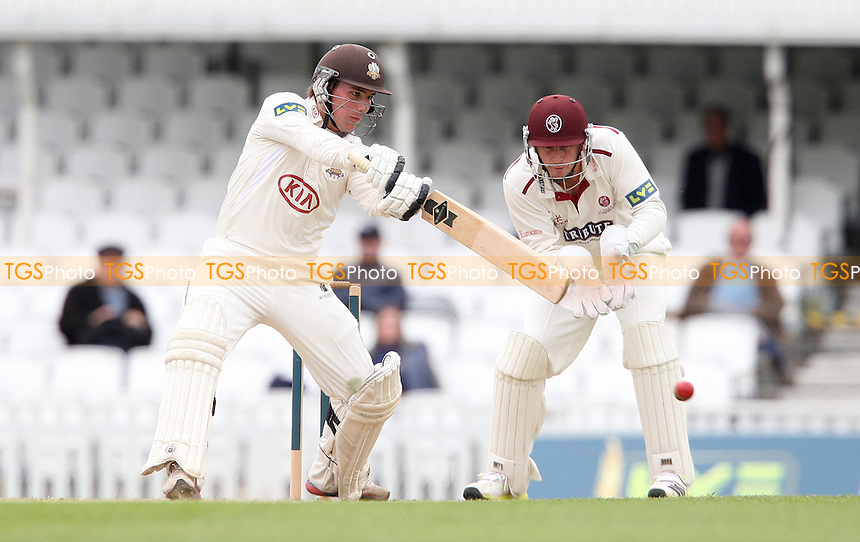 Rory Burns of Surrey in batting action - Surrey CCC vs Somerset CCC, LV County Championship Division 1 at The Kia Oval, Kennington - 19/04/13 - MANDATORY CREDIT: Rob Newell/TGSPHOTO - Self billing applies where appropriate - 0845 094 6026 - contact@tgsphoto.co.uk - NO UNPAID USE.
