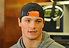 Christian Hackenberg #5, New York Jets quarterback, speaks to the media at Atlantic Health Jets Training Center in Florham Park, NJ on Monday, Jan. 2, 2017. Players cleaned out their lockers one day after their 5-11 season concluded.