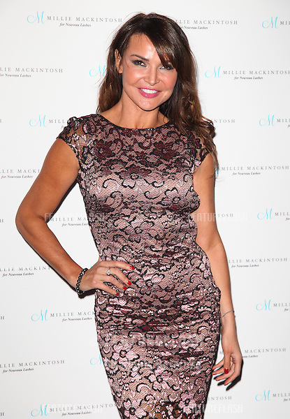 Lizzie Cundy arriving for the Nouveau Lashes Launch, London.  18/09/2012 Picture by: Alexandra Glen / Featureflash