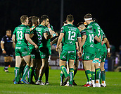 9th February 2018, Galway Sportsground, Galway, Ireland; Guinness Pro14 rugby, Connacht versus Ospreys; The Connacht team group before kick off against Ospreys