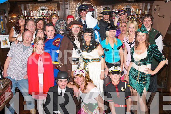 FANCY 30TH: Mark Clifford and his wife Laura (standing centre) from Ballyvelly Tralee, celebrated his 30th birthday last Saturday night in The Blasket Inn, Castle St., Tralee with a fab fancy dress party organised by his wife, his parents Bill and Patsy and his brother Greg.   Copyright Kerry's Eye 2008
