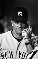 New York Yankees Manager Joe Torre during a game at Anaheim Stadium in Anaheim, California during the 1997 season.(Larry Goren/Four Seam Images)