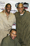 Guiding Light's Lawrence Saint-Victor, author Layon Gray, Thom Scott II (right) star in Black Angels Over Tuskegee on January 24, 2011 at the Actors Temple Theatre, New York City, New York. (Photo by Sue Coflin/Max Photos)