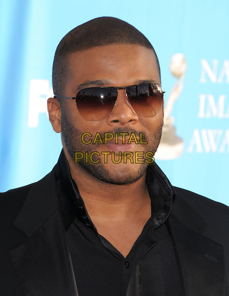 TYLER PERRY.Attends The 39th NAACP Image Awards held at The Shrine Auditorium in Los Angeles, California, USA..February 14th, 2008        .headshot portrait stubble facial hair sunglasses shades .CAP/DVS.©Debbie VanStory/Capital Pictures.