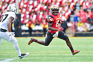 College Park, MD - OCT 1, 2016: Maryland Terrapins wide receiver Teldrick Morgan (19) in action during game between Maryland and Purdue at Capital One Field at Maryland Stadium in College Park, MD. The Terps got the win 50-7 over visiting Purdue. (Photo by Phil Peters/Media Images International)