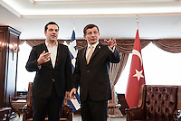 2016 03 08 Prime Ministers of Turkey and Greece meet Smyrna, Turkey