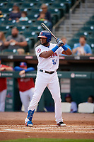 Buffalo Bisons Socrates Brito (51) bats during an International League game against the Norfolk Tides on June 21, 2019 at Sahlen Field in Buffalo, New York.  Buffalo defeated Norfolk 2-1, the first game of a doubleheader.  (Mike Janes/Four Seam Images)