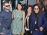 Jack Osbourne,Lisa Stelly,Sharon Osbourne and Ozzy Osbourne at The Columbia Pictures' Premiere of Total Recall held at The Grauman's Chinese Theatre in Hollywood, California on August 01,2012                                                                               © 2012 Hollywood Press Agency