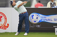 Branden Grace (RSA) tees off the 1st tee during Wednesday's Pro-Am Day of the 2014 BMW Masters held at Lake Malaren, Shanghai, China 29th October 2014.<br /> Picture: Eoin Clarke www.golffile.ie