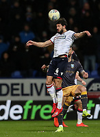 Bolton Wanderers' Jason Lowe heads clear <br /> <br /> Photographer Andrew Kearns/CameraSport<br /> <br /> The EFL Sky Bet Championship - Bolton Wanderers v Sheffield Wednesday - Tuesday 12th March 2019 - University of Bolton Stadium - Bolton<br /> <br /> World Copyright © 2019 CameraSport. All rights reserved. 43 Linden Ave. Countesthorpe. Leicester. England. LE8 5PG - Tel: +44 (0) 116 277 4147 - admin@camerasport.com - www.camerasport.com