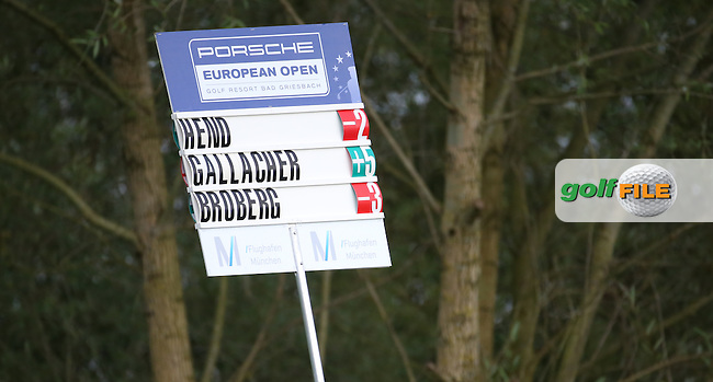 Stephen GALLACHER (SCO) miles behind the rest during the First Round of the Porsche European Open 2015 played at Golf Resort Bad Griesbach, Bad Griesbach, Germany.  24/09/2015. Picture: Golffile | David Lloyd<br /> <br /> All photos usage must carry mandatory copyright credit (&copy; Golffile | David Lloyd)