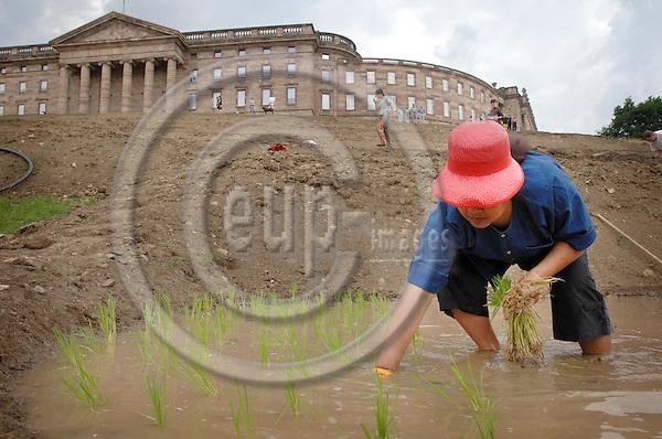 KASSEL - GERMANY 14. 06. 2007 -- Sakarin Krue-On: Terraced Rice Field Art Project Kassel (2007)  -- PHOTO: GORM K. GAARE / EUP- IMAGES ...