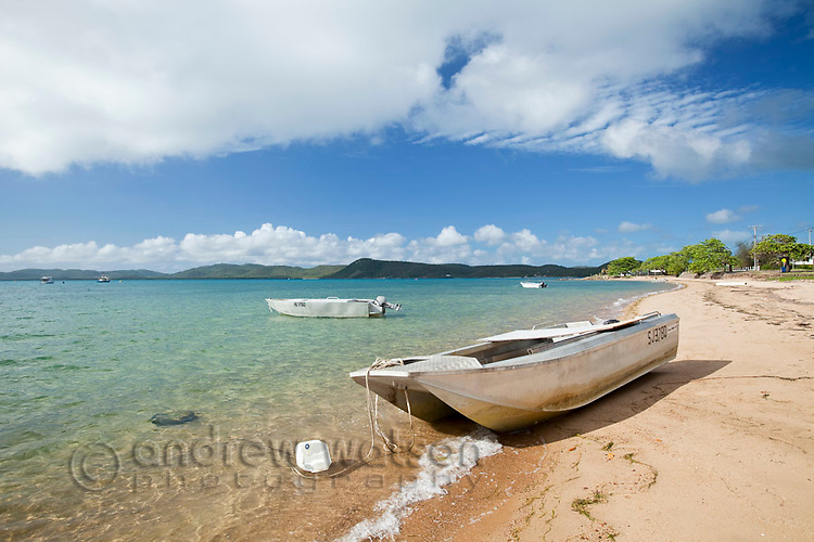 Boats on beach.  Thursday Island, Torres Strait Islands, Queensland, Australia