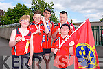 The conquering heroes back from The Munster Special Olympics Finals in cork, last weekend, at a welcoming reception at Cuman Iosaef on Monday  Liam Purcell, Bronze (Softball), Eoin O'Sullivan, Silver, (Softball), Christopher Courtney, Silver (Short Putt),  Maurice Moriarty, Gold (Short Putt), Silver (100 Meters), Hugh O'Brien, Bronze (50 Meter Run),