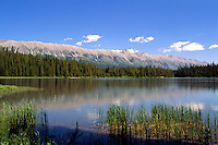 Rocky Mountains, Canadian Rockies, BC, British Columbia, Canada - Lower Elk Lake and Elk Mountain Range, Elk Lakes Provincial Park near Elkford, Summer