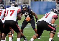Florida International University football player linebacker Winston Fraser (34) plays against the University of Louisiana-Lafayette on September 24, 2011 at Miami, Florida. Louisiana-Lafayette won the game 36-31. .