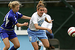 09 October 2005: North Carolina's Heather O'Reilly (20). The Duke Blue Devils defeated the #1 ranked Carolina Tar Heels 2-1 at Fetzer Field in Chapel Hill, North Carolina in a regular season Atlantic Coast Conference women's soccer game.