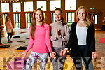 Fiona and Naomi O'Neill with Aisling Fitzgibbon, enjoying an afternoon of Yoga at Ballyroe Heights Hotel, Tralee, on Sunday morning last, with funds raised going towards the restoration of the Shannon Ballroom in Causeway.