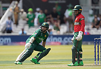 Imam-ul-Haq (Pakistan) turns for a third as Mushfiqur Rahim (Bangladesh) looks on during Pakistan vs Bangladesh, ICC World Cup Cricket at Lord's Cricket Ground on 5th July 2019