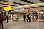 Duty free shops at Terminal Five, Heathrow airport, London, England, UK