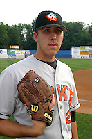 August 18, 2005:  Pitcher Scott Rice of the Bowie BaySox during a game at Metro Bank Park in Harrisburg, PA.  Bowie is the Eastern League Double-A affiliate of the Baltimore Orioles.  Photo by:  Mike Janes/Four Seam Images
