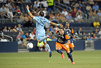 Emanuel Herrera (11) forward Montpellier in action..Sporting Kansas City were defeated 3-0 by Montpellier HSC in an international friendly at LIVESTRONG Sporting Park, Kansas City, KS..