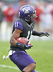 TCU Horned Frogs wide receiver Skye Dawson (11) in action during the game between the Iowa State Cyclones and the TCU Horned Frogs  at the Amon G. Carter Stadium in Fort Worth, Texas. Iowa State leads TCU 16 to 10 at halftime....