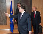 Brussels-Belgium - May 07, 2013 -- José (Jose) Manuel DURAO BARROSO (front), President of the European Commission, receives Ulrich GRILLO (back)), President of the Federation of German Industries (BDI - Bundesverband der Deutschen Industrie e.V.) -- Photo: © HorstWagner.eu