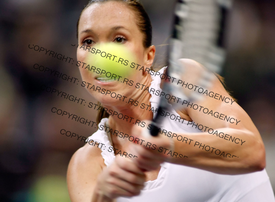 Tenis, FED CUP, world group B.Serbia Vs. Japan.Jelena Jankovic Vs. AI SUgiyama.Jelena Jankovic.Beograd, 08.02.2009. .Photo: © Srdjan Stevanovic/Starsportphoto.com