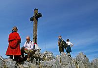 DEU, Deutschland, Bayern, Oberbayern, Berchtesgadener Land, Berchtesgaden, Jenner-Gipfelkreuz (1.874 m) | DEU, Germany, Bavaria, Upper Bavaria, Berchtesgadener Land, Berchtesgaden, Jenner peak (1.874 m)