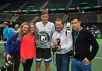 Rotterdam, The Netherlands. 16.02.2014. Tomas Berdych(TSJ) defeats Marin Cilic(KRO) and wins the  ABN AMRO World tennis Tournament of 2014<br /> Photo:Tennisimages/Henk Koster