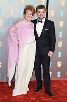 Lorraine Ashbourne and Andy Serkis<br /> arriving for the BAFTA Film Awards 2019 at the Royal Albert Hall, London<br /> <br /> ©Ash Knotek  D3478  10/02/2019