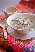 Authentic Nyonya Cuisine, Tu Thor Thng (Pork stomach soup with mushroom) is placed for a photo at the Mama's Nyonya  restaurant in capital Georgetown of Penang, Malaysia. Photo: Sanjit Das/Panos