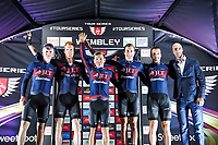 Picture by Simon WilkinsonAlex Whitehead/SWpix.com - 16/05/2017 - Cycling - Tour Series Round 4, Wembley - JLT Condor win the team award on the evening.