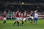 Fabio Quagliarella of Sampdoria out jumps Sasa Lukic of Torino FC to head the ball goalwards during the Serie A match at Stadio Grande Torino, Turin. Picture date: 8th February 2020. Picture credit should read: Jonathan Moscrop/Sportimage