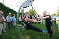 SCHARSTERBRUG: 18-10-2014, Opening Fitnesspark, ©foto Martin de Jong