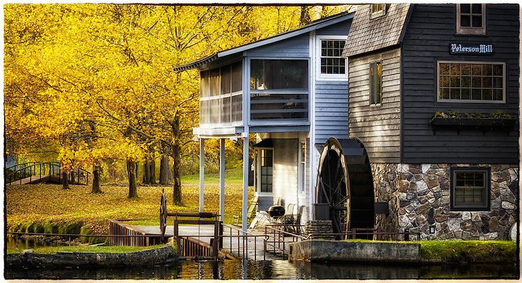 Autumn at Peterson Mill in Saugatuck, Michigan. Photo by Dan Irving.