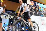 Defending Champion Christopher Froome (GBR) Team Sky on stage at the Team Presentation in Burgplatz Dusseldorf before the 104th edition of the Tour de France 2017, Dusseldorf, Germany. 29th June 2017.<br /> Picture: Eoin Clarke | Cyclefile<br /> <br /> <br /> All photos usage must carry mandatory copyright credit (&copy; Cyclefile | Eoin Clarke)
