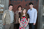 Eleanor Murray with Jim, Ann and James at her Confirmation in Clogherhead Church....Photo NEWSFILE/Jenny Matthews.(Photo credit should read Jenny Matthews/NEWSFILE)....This Picture has been sent you under the condtions enclosed by:.Newsfile Ltd..The Studio,.Millmount Abbey,.Drogheda,.Co Meath..Ireland..Tel: +353(0)41-9871240.Fax: +353(0)41-9871260.GSM: +353(0)86-2500958.email: pictures@newsfile.ie.www.newsfile.ie.FTP: 193.120.102.198.